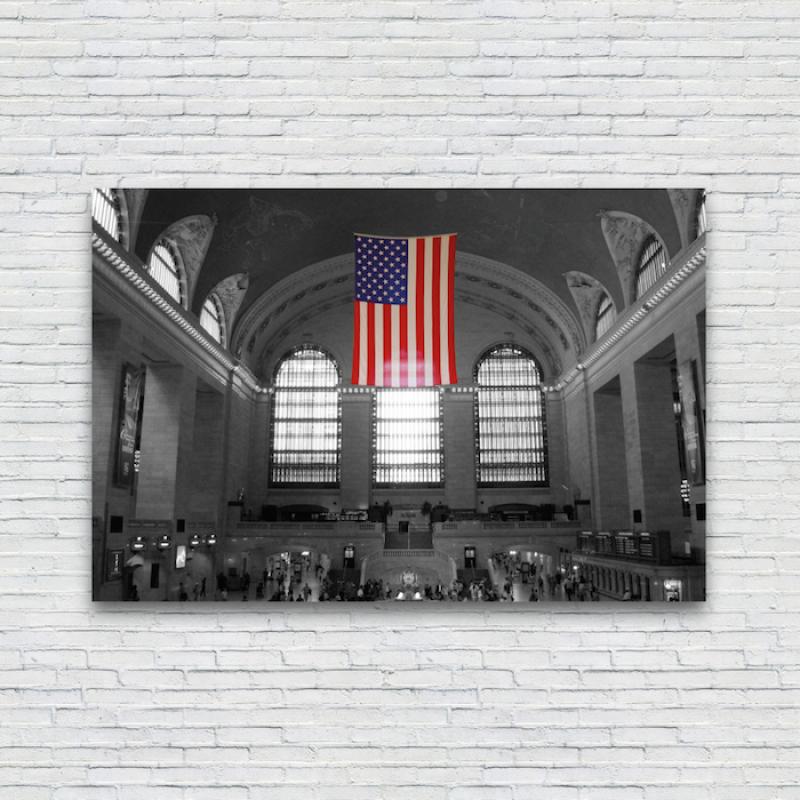 New York City Grand Central Station Canvas Print Colour Splash