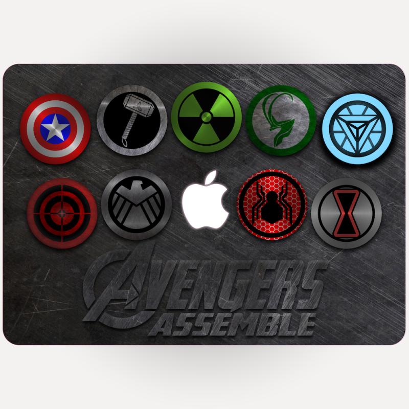 Avengers Apple Macbook Sticker Northern Secret Uk