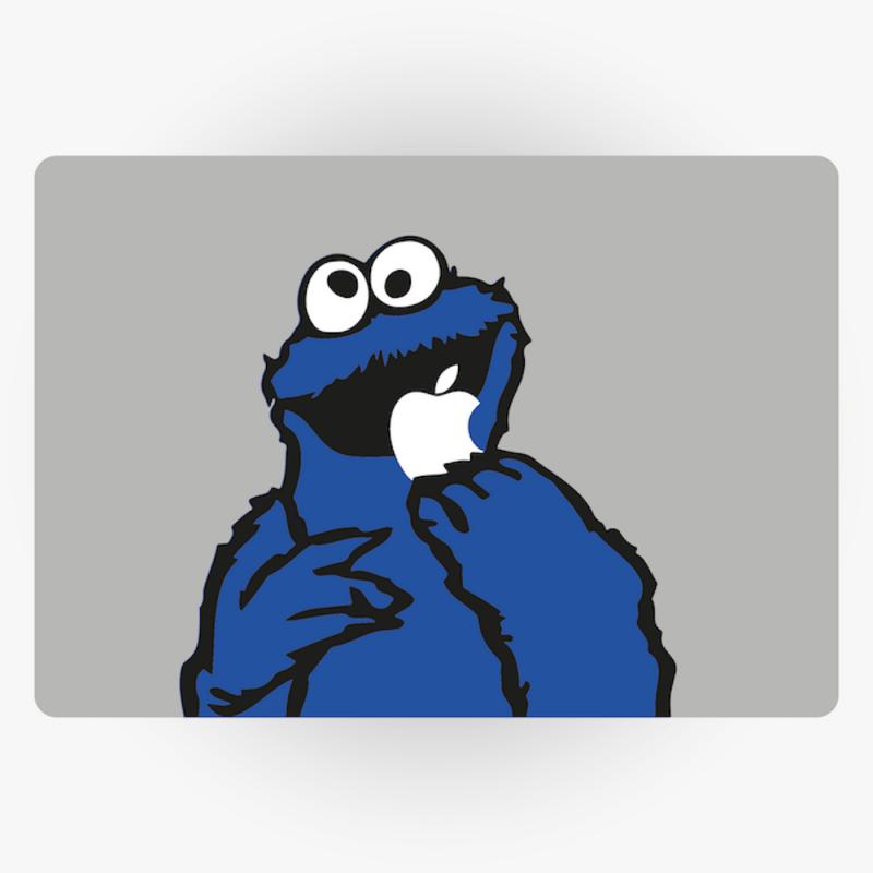 Cookie Monster Apple Macbook Sticker Northern Secret Uk