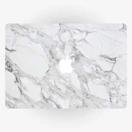 Marble White Apple MacBook Sticker