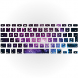 Galaxy Apple MacBook Keyboard Sticker